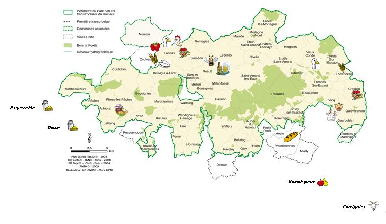 Carte localisation producteurs